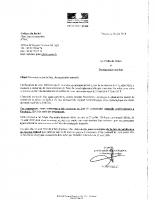 Courrier aux maires ARRETE CATASTROPHS NATURELLES